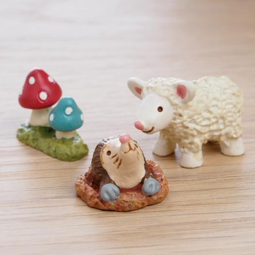 ~Maruwa~迷你動物朋友擺飾 綿羊與地鼠