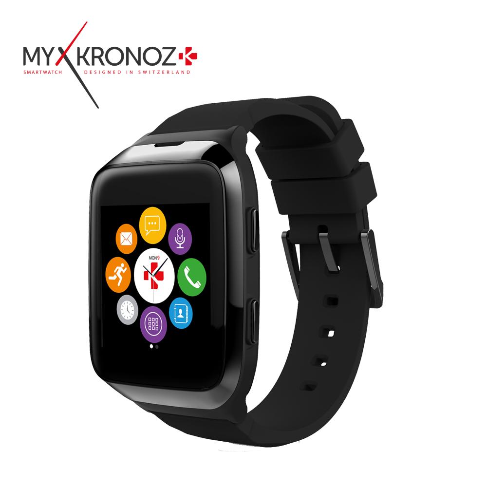 MyKRONOZ ZeSplash2 心率通訊防水智慧手錶黑色
