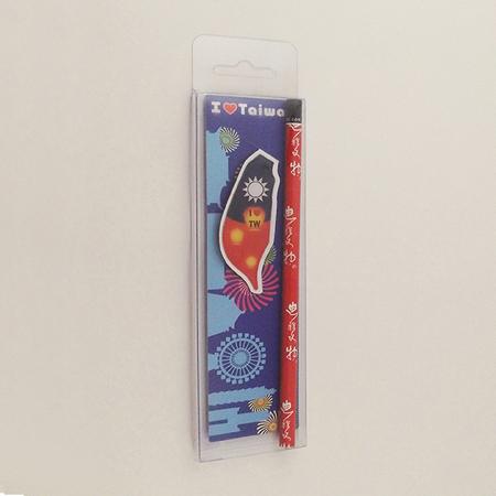 迪雅生活 - 臺灣夾式書籤鉛筆組 國旗系列 創意傳遞快樂生活