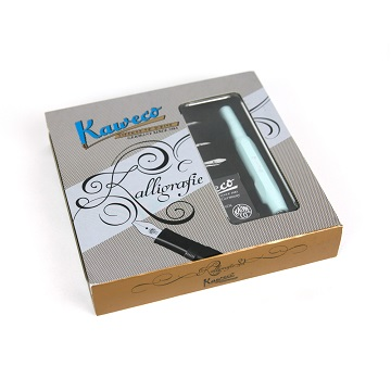 德國KAWECO Calligraphy系列藝術書法鋼筆 組/ 薄荷綠