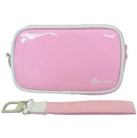 Rockfire NDSL/NDSi/3DS 鏡面亮彩皮革收納攜行包JAS-0010-DSBG粉紅色