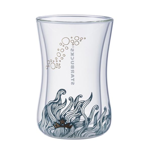 [星巴克]優雅女神手工雙層玻璃杯