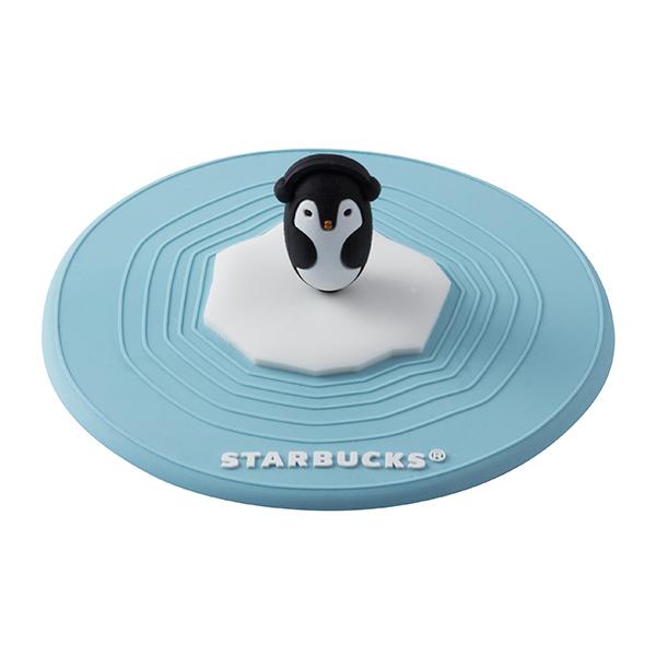 [星巴克]極地企鵝矽膠杯蓋