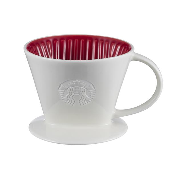 [星巴克]紅2杯陶瓷濾杯