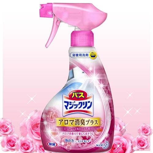 日本kao泡沫消臭除垢浴廁清潔劑(玫瑰花香)380ml