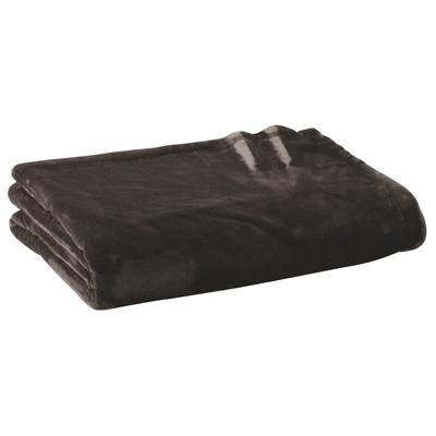 [MUJI無印良品]暖纖毛厚手毛毯/D雙人棕色