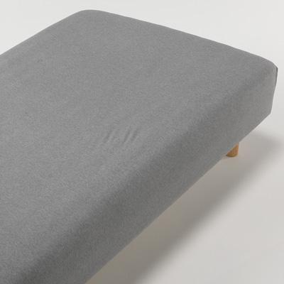 [MUJI無印良品]有機棉天竺床包/S單人/混灰