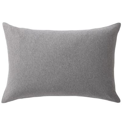 [MUJI無印良品]有機棉天竺枕套/50/混灰