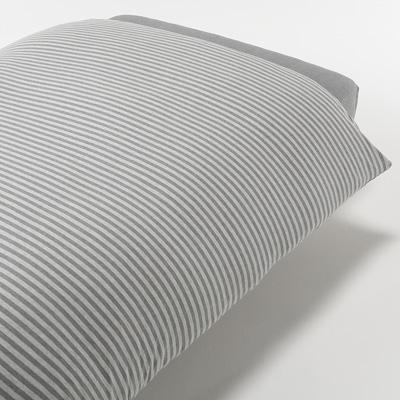 [MUJI無印良品]有機棉天竺粗紋被套/S單人/混灰