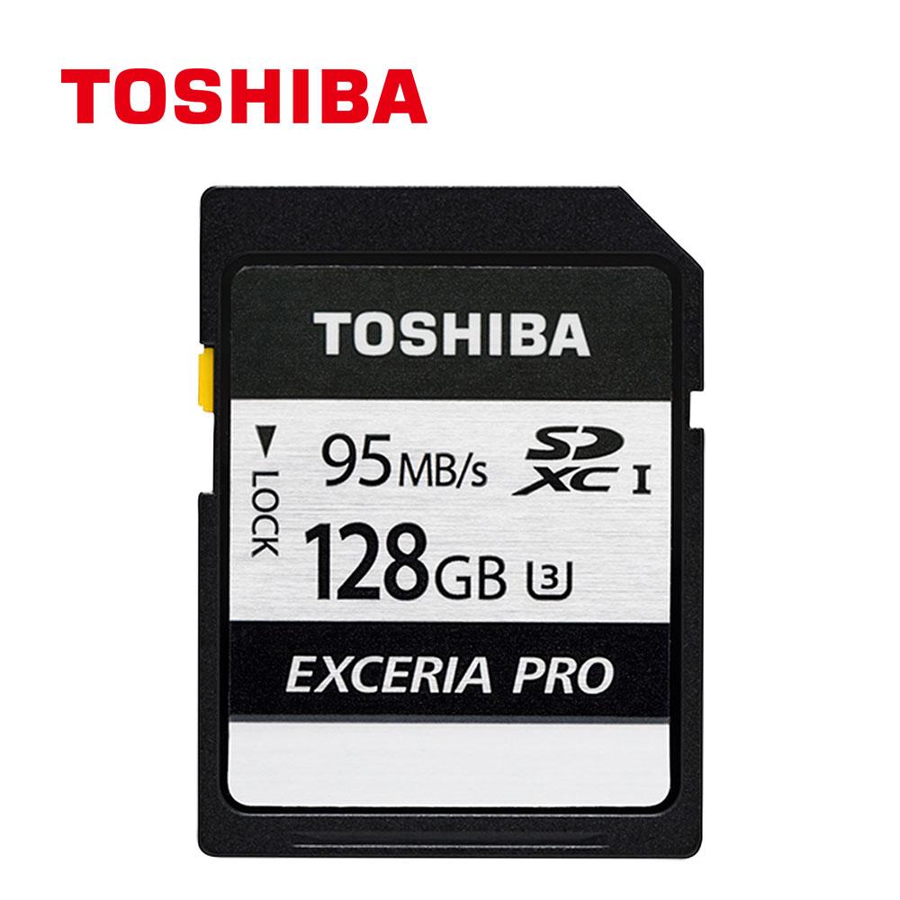 Toshiba EXCERIA PRO U3 128GB SDXC UHS-1記憶卡