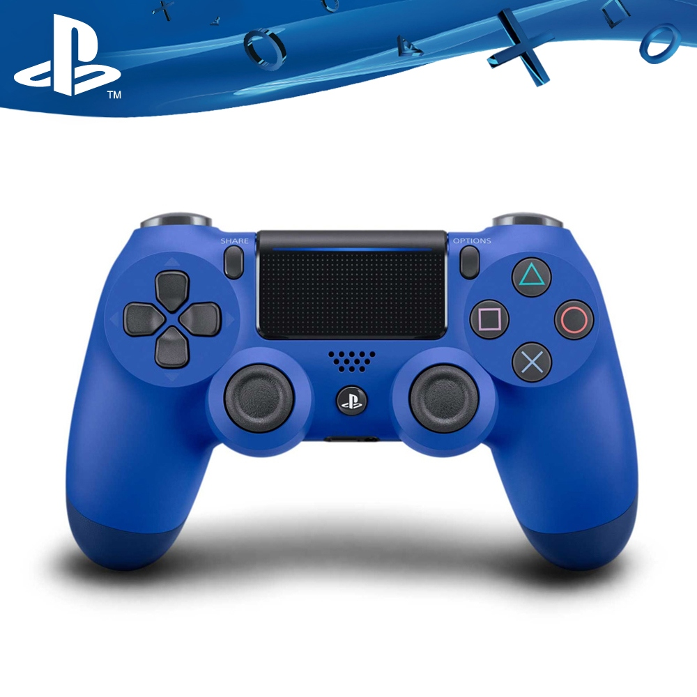 PS4原廠DS4 光條觸碰板 無線震動手把-海浪藍(CUH-ZCT2G12)