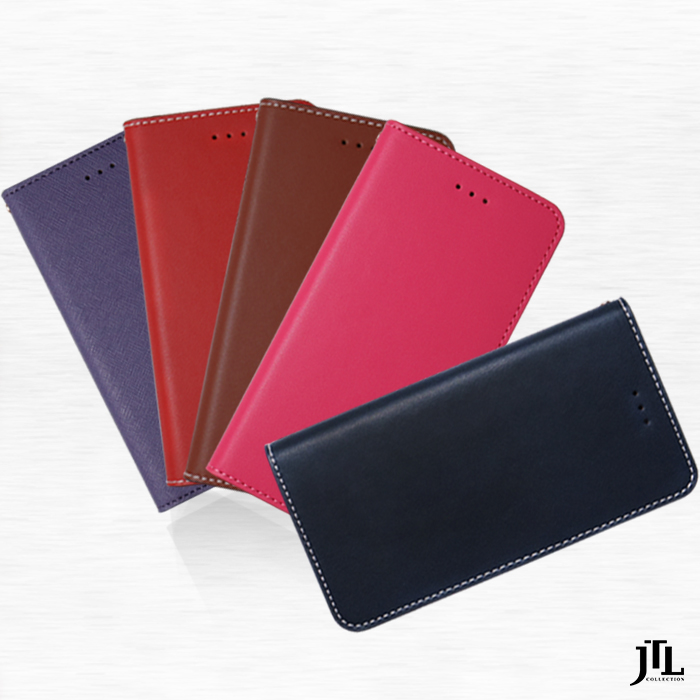 JTL iPhone 7 手工真皮側掀式皮套系列粉紅