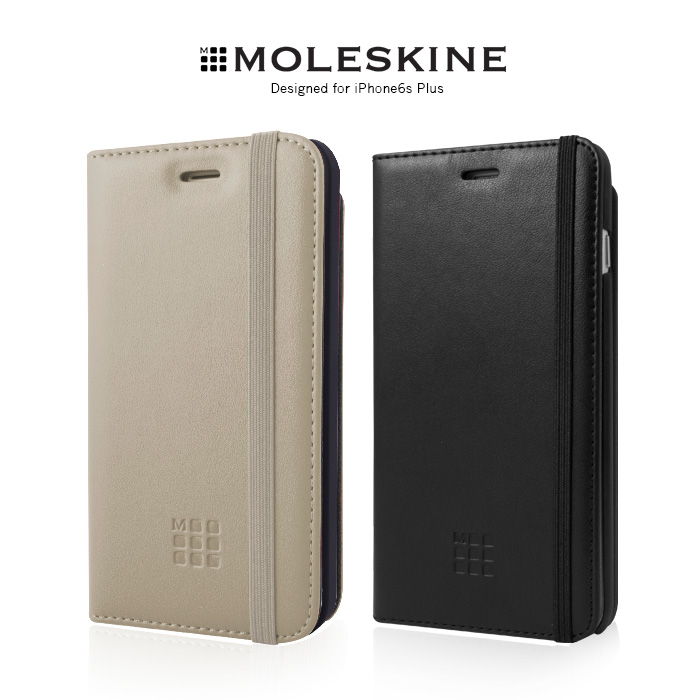 Moleskine iPhone6s Plus 5.5吋 側掀皮套黑