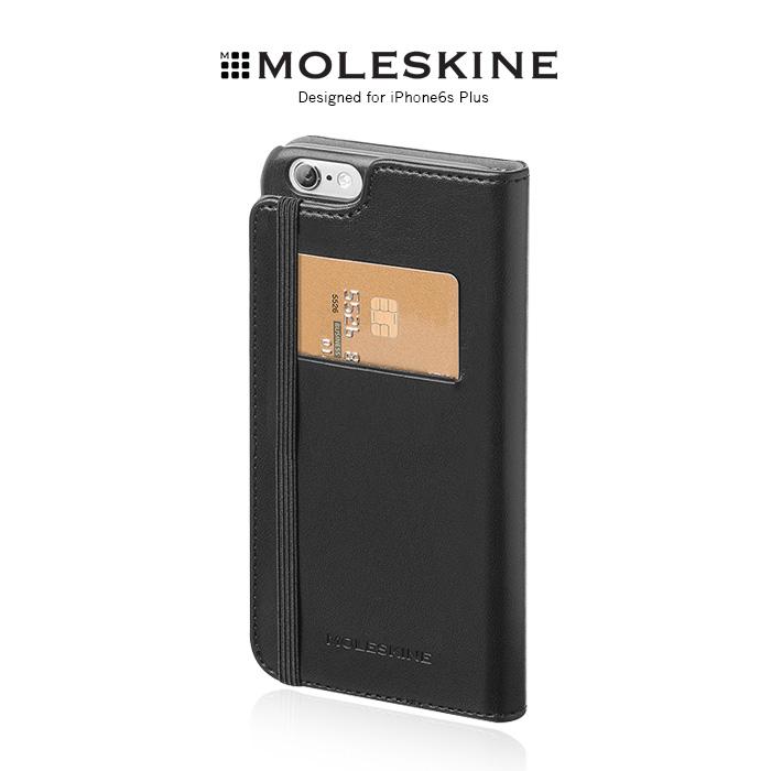 Moleskine iPhone6s Plus 5.5吋 側掀皮套米白