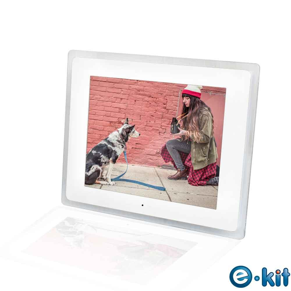 逸奇e-Kit 10.2吋數位相框電子相冊-透明邊框白色款 DF-V501_TW透明邊框白色款