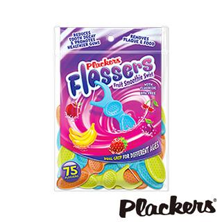 美國Plackers普雷克兒童塗氟牙線棒(75入果昔口味)