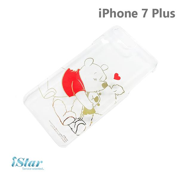 【日本 PGA-iJacket】iPhone 7 Plus 正版迪士尼海外限定PC金箔透明系列-維尼
