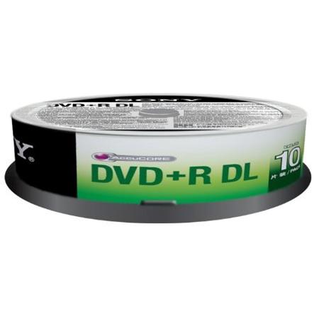 SONY DVD+R DL 8X 8.5GB 單面雙層 (10片布丁桶)x1