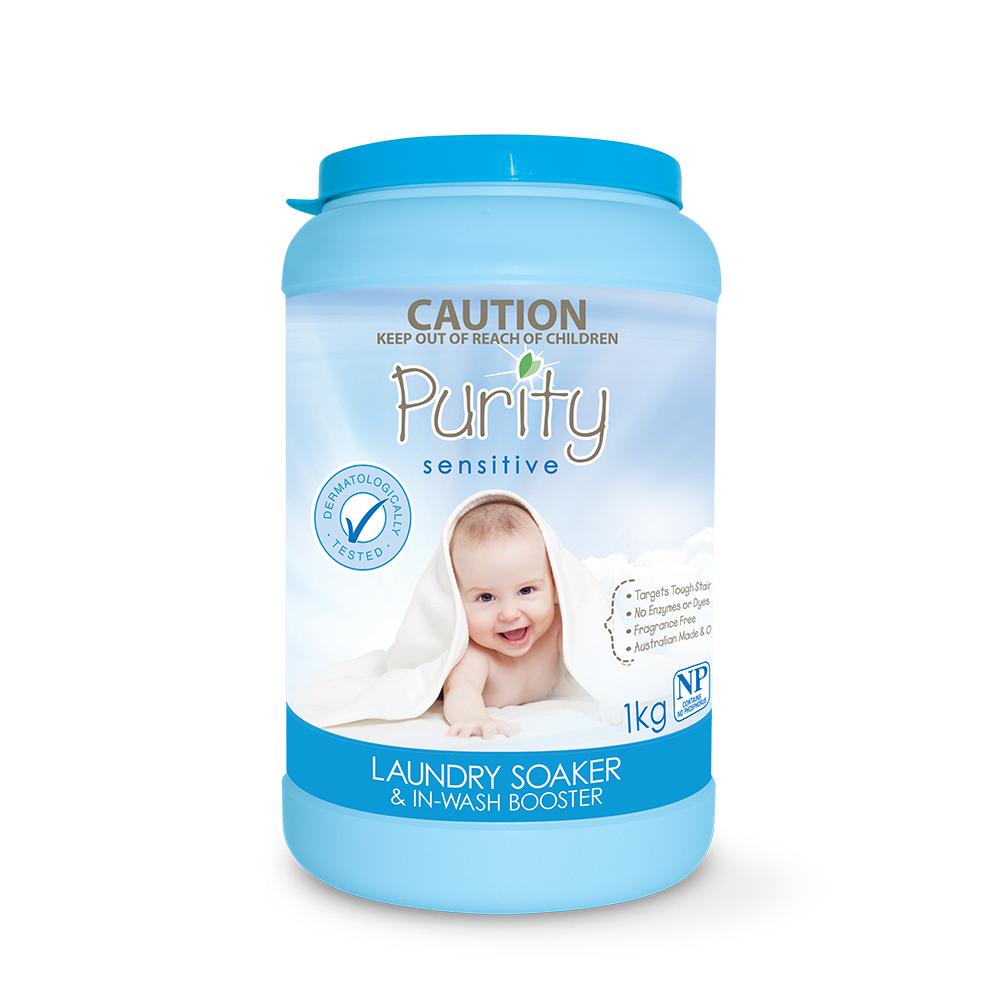 【澳洲Natures Organics】天然植粹嬰幼兒衣物浸泡去漬粉(低敏)1kg