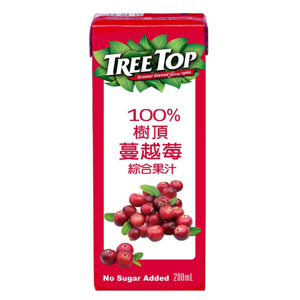 《Tree Top》樹頂100%蔓越莓綜合果汁(200mlx6入)