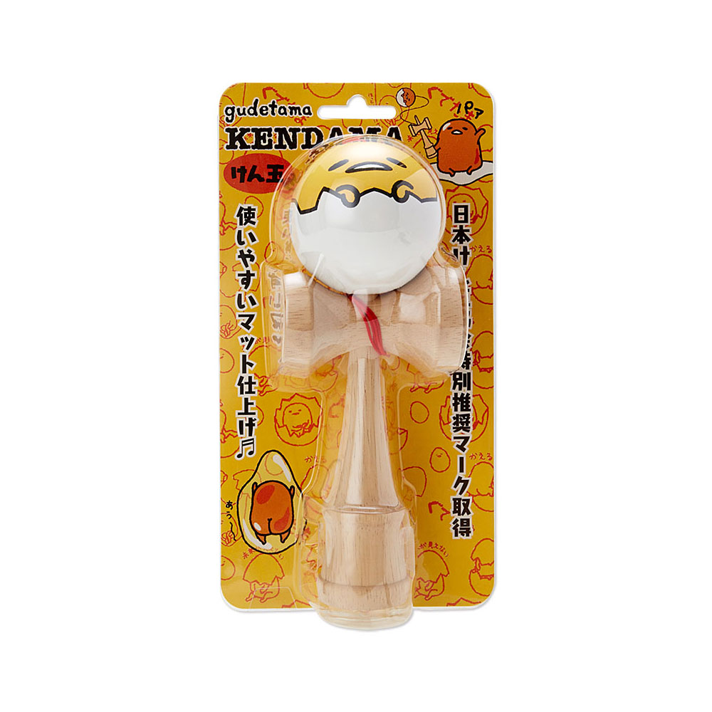 《Sanrio》蛋黃哥可愛大臉木製劍玉球(趴趴蛋殼)