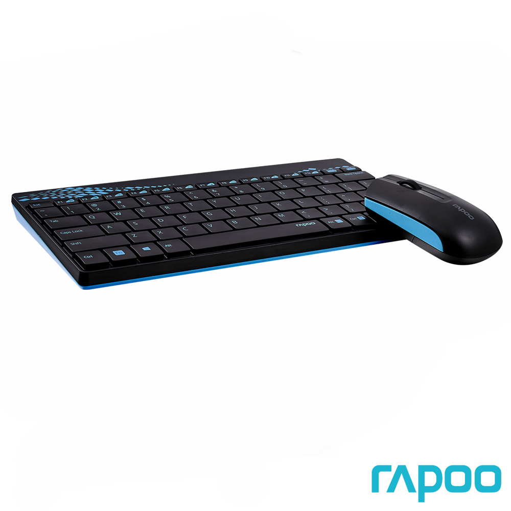 Rapoo 雷柏8000 無線光學鍵鼠組藍