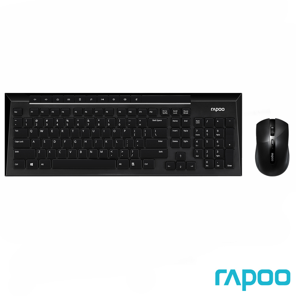 Rapoo 雷柏8200P 5G無線光學鍵鼠組黑