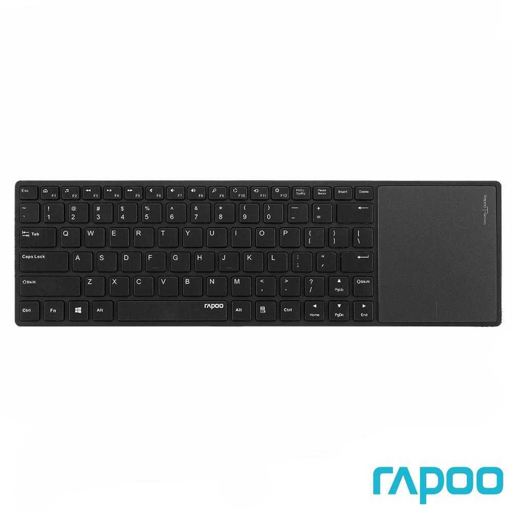 Rapoo 雷柏 E6700 藍牙超薄觸控式鍵盤黑