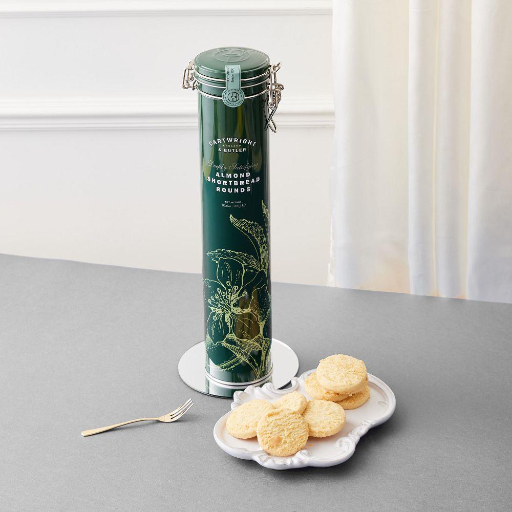 【英國傳統手工】C&B女王杏仁酥手工餅-鐵罐300g (含提袋)