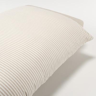 [MUJI無印良品]有機棉天竺粗紋被套/S單人/混米
