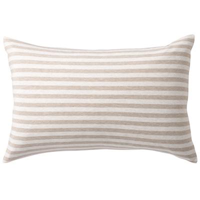 [MUJI無印良品]有機棉天竺粗紋枕套/43/混米