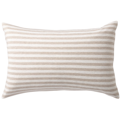 [MUJI無印良品]有機棉天竺粗紋枕套/100/混米
