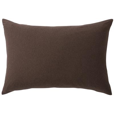 [MUJI無印良品]有機棉天竺枕套/43/混棕