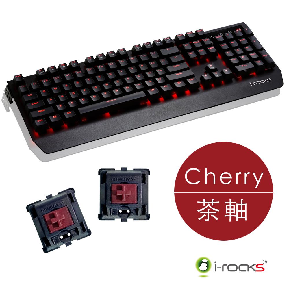 i-Rocks K60M全背光鋁合金機械式電競鍵盤-德國Cherry茶軸