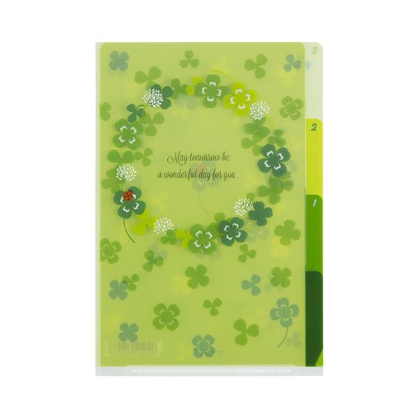 MIDORI 3層資料夾(A4)- 幸運草