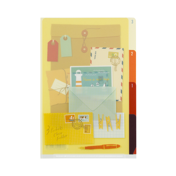 MIDORI 3層資料夾(A4)- 信紙