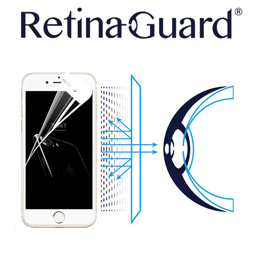 RetinaGuard 視網盾 iPhone 7 (4.7吋) 眼睛防護 防藍光保護膜- 白框款