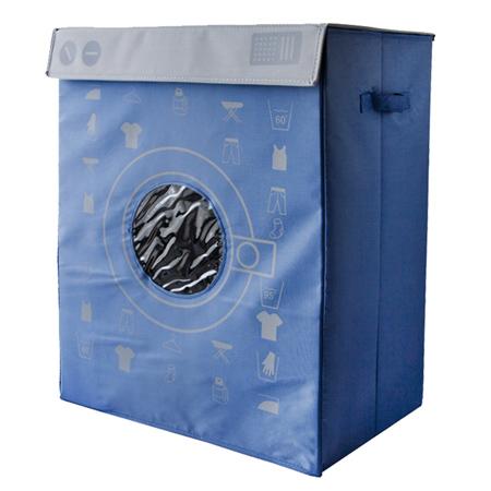 洗衣機造型收納箱-藍