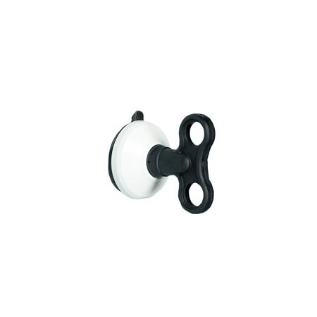 發條式強力吸盤壁掛(中)-黑白