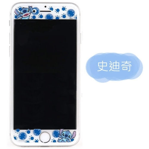 【Disney 】9H強化玻璃彩繪保護貼-大人物 iPhone 6 Plus/6s Plus史迪奇