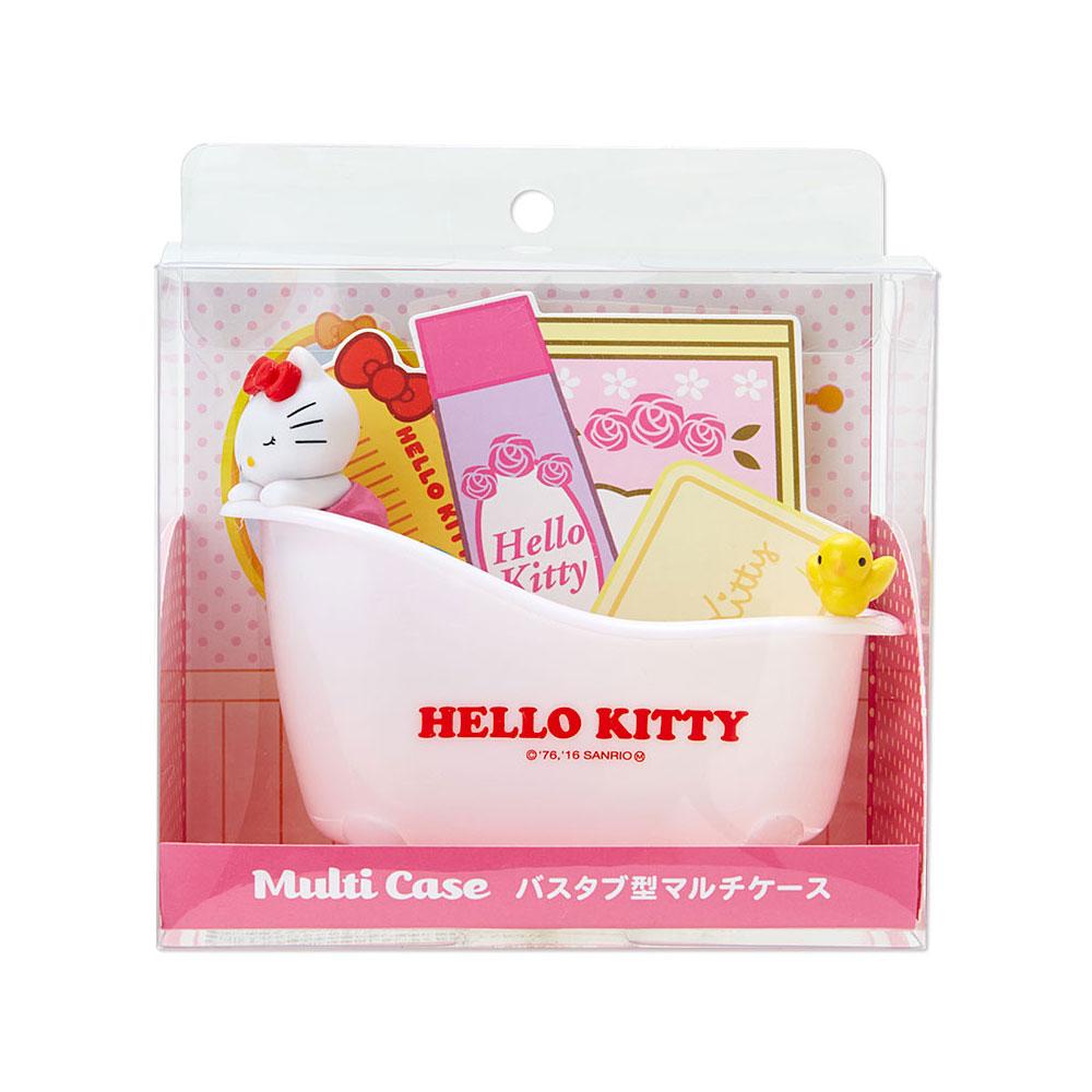 《Sanrio》HELLO KITTY療癒浴缸造型多功能塑膠置物盤