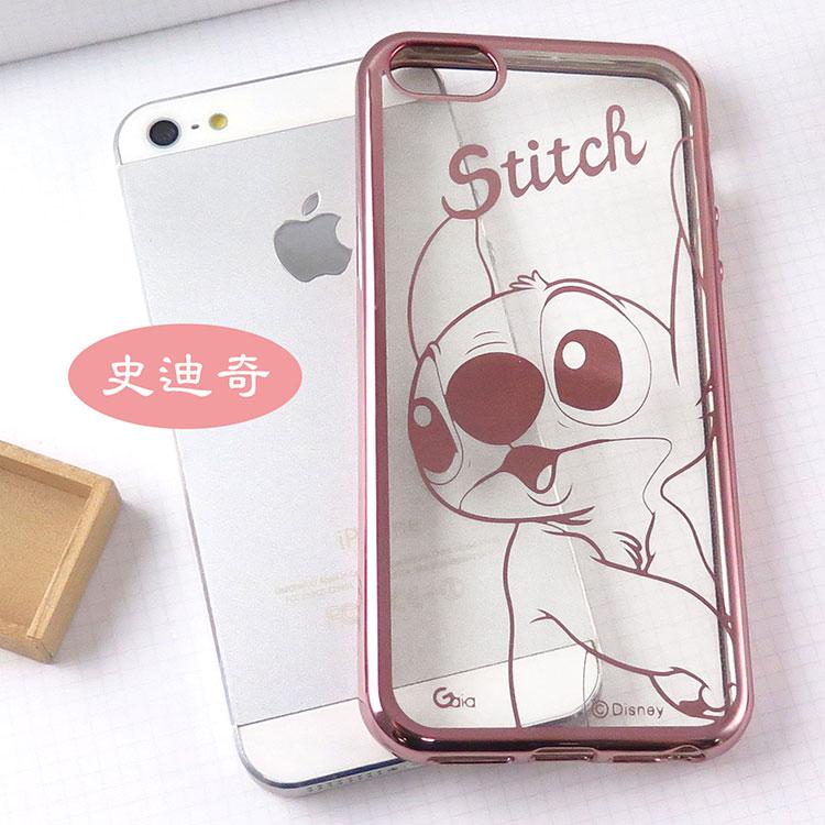 【Disney 】iPhone 6 /6s 時尚質感電鍍系列彩繪保護套-人物系列史迪奇