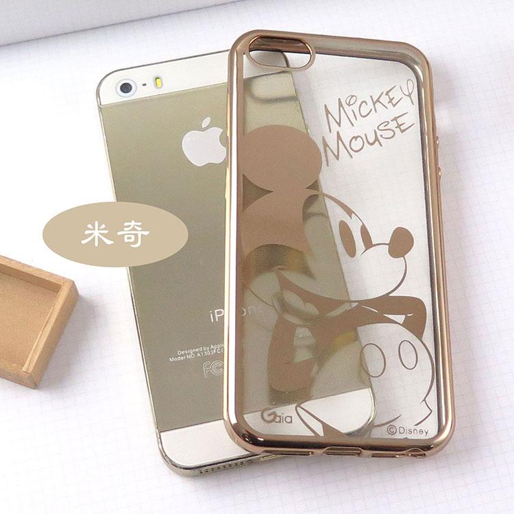 【Disney 】iPhone 6 /6s 時尚質感電鍍系列彩繪保護套-人物系列米奇