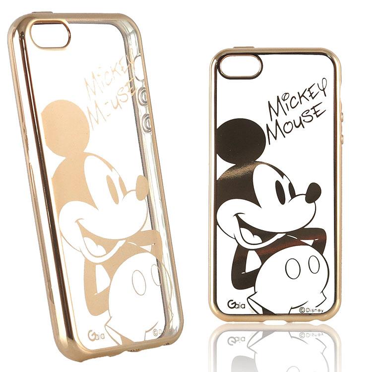 【Disney 】iPhone 6 Plus/6s Plus 時尚質感電鍍系列彩繪保護套-人物系列米奇