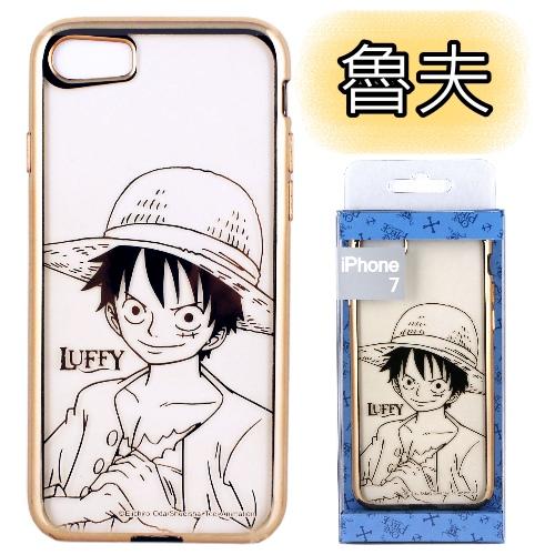 【航海王 】時尚質感金色電鍍保護套-人物系列 iPhone 7 (4.7吋)魯夫