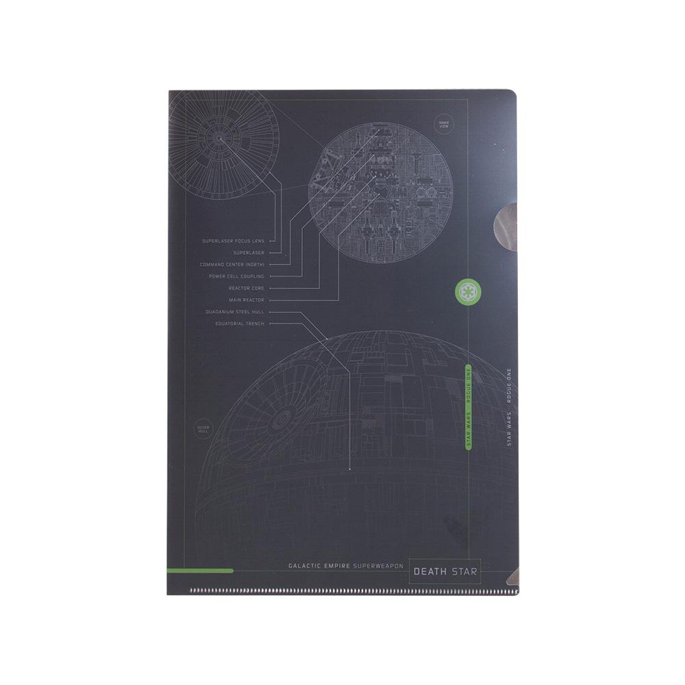 《sun-star》星際大戰外傳:俠盜一號系列未來金屬質感A4文件夾(死星)