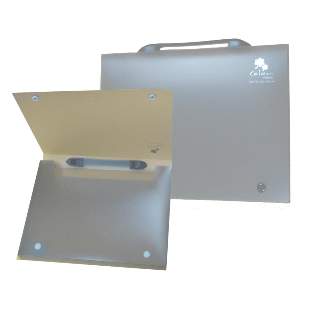 【檔案家】立體手把輕盈A4公文盒(30) 灰果凍