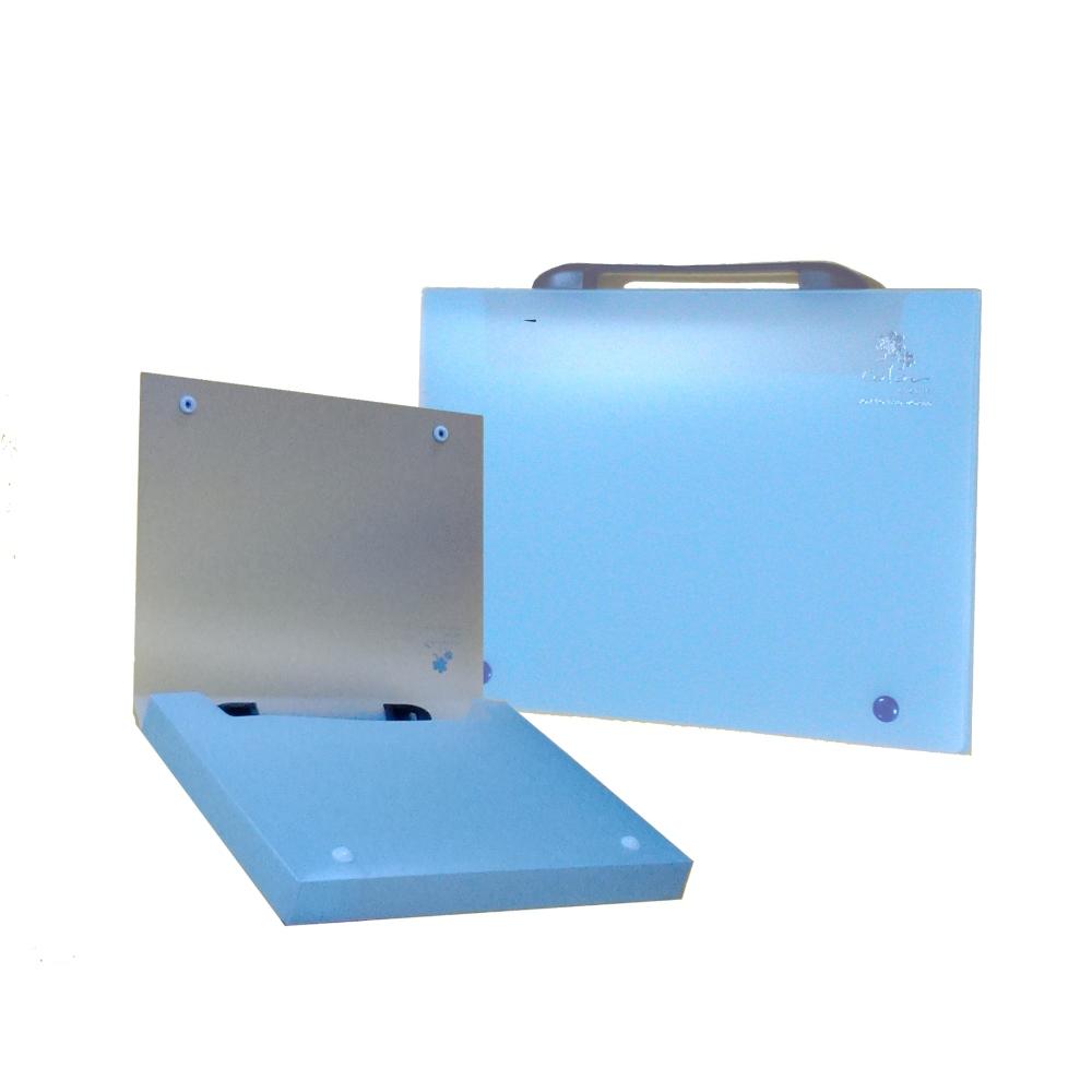 【檔案家】立體手把輕盈A4公文盒(30) 藍果凍