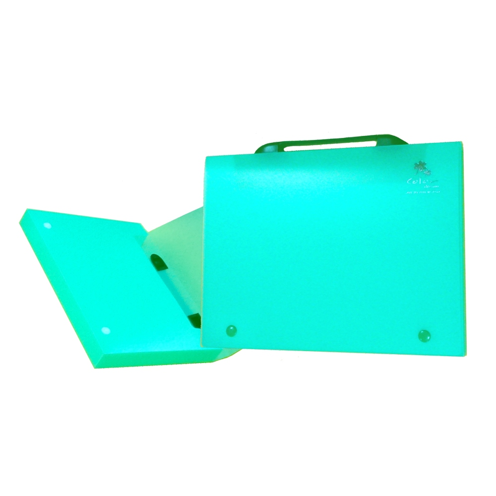 【檔案家】立體手把輕盈A4公文盒(30) 綠果凍