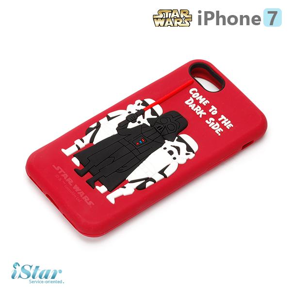 【日本 PGA-iJacket】iPhone 7 星際大戰STARWARS 可愛矽膠系列-黑武士與帝國軍